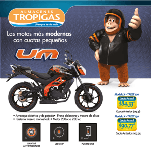 Ultimos dias promocion de motos UM mayo 2015