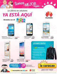 Variedad de celulares HUAWEI en oferta via LA CURACAO - 05may15