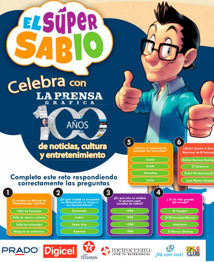 trivia y concurso EL SUPER SABIO - 21may15