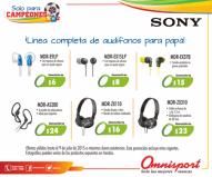Audifonos SONY para que PAPA escuche su musica favorita