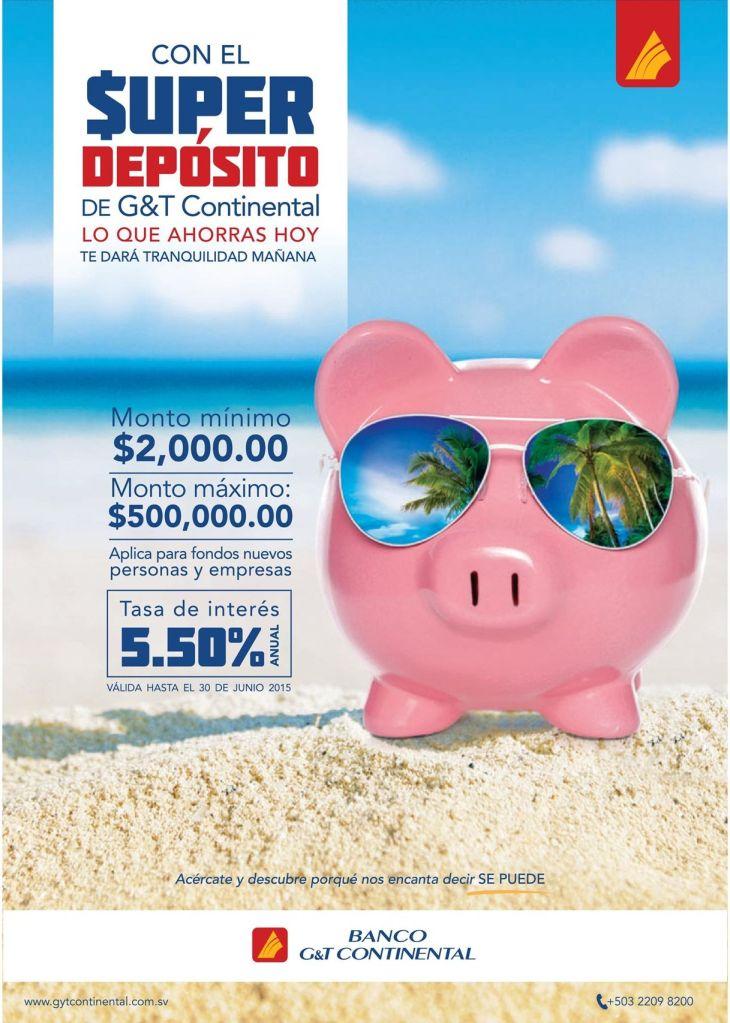 Banco G T continental el salvador FOREX money deposit balance