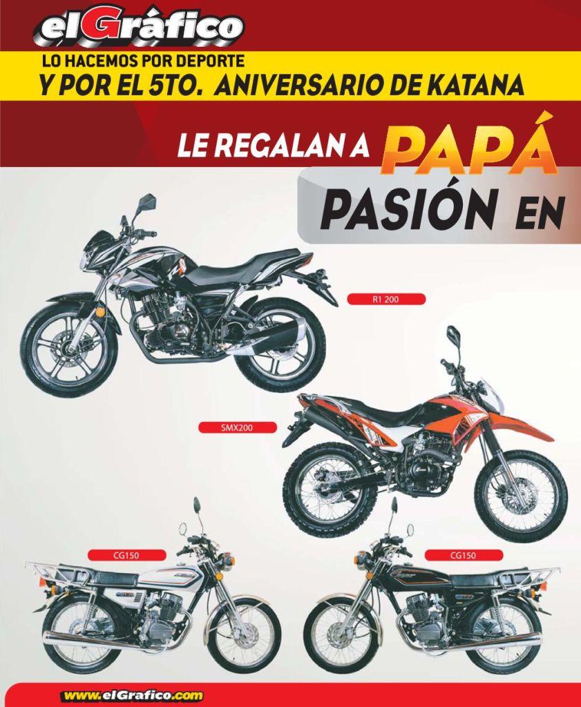En el mes del padre EL GRAFICO regala estas motos - junio 2015