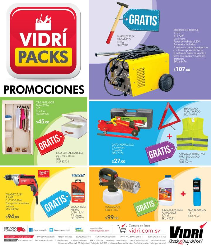 Ferreteria VIDRI PACKS promotions