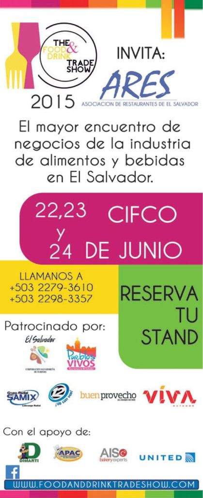 Food and DRINK trade show 2015 elsalvador