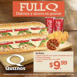 Full QUIZNOS Q for two por solo 9.99