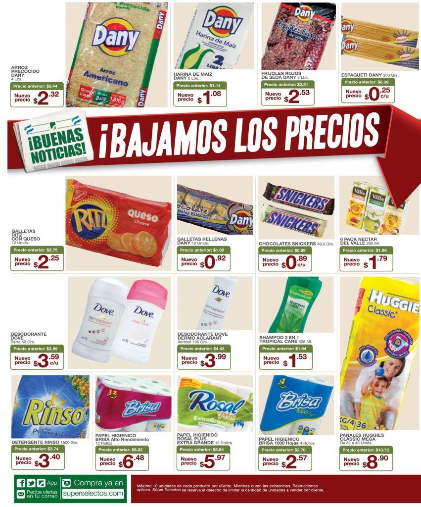 Granos basicos con rebaja de precios en super selectos - 15jun15