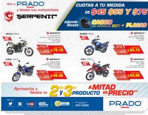 Las mejores cuotas en MOTOS economicas SERPENTO de PRADO - 26jun15