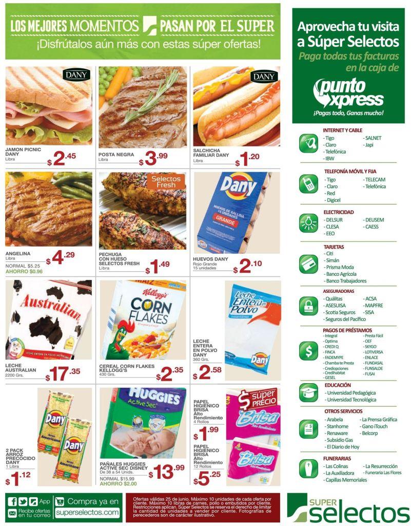 Ofertas del dia en supermercado selectos - 25jun15