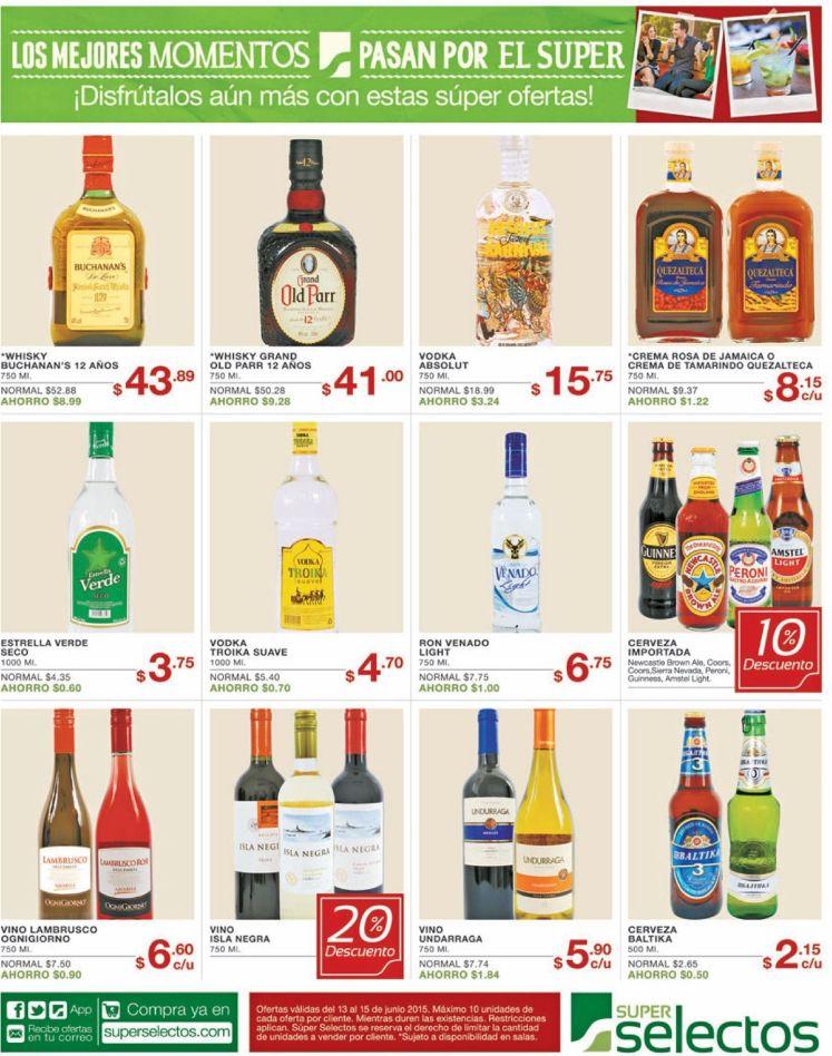 Ofertas y promociones para BRINDAR con tus bebidas - 13jun15