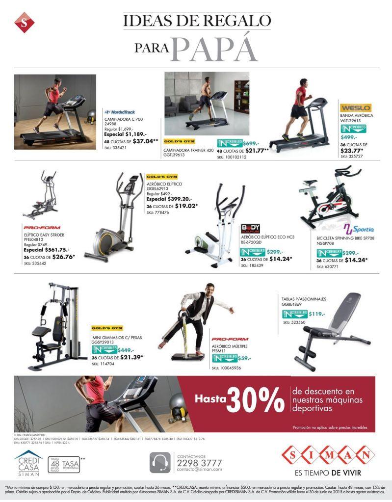 Para papas atleticos Descuento SIMAN en maquinas de ejercicios - 15jun15