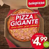 Pizza GIGANTE por solo 4.99 de dolar te animas