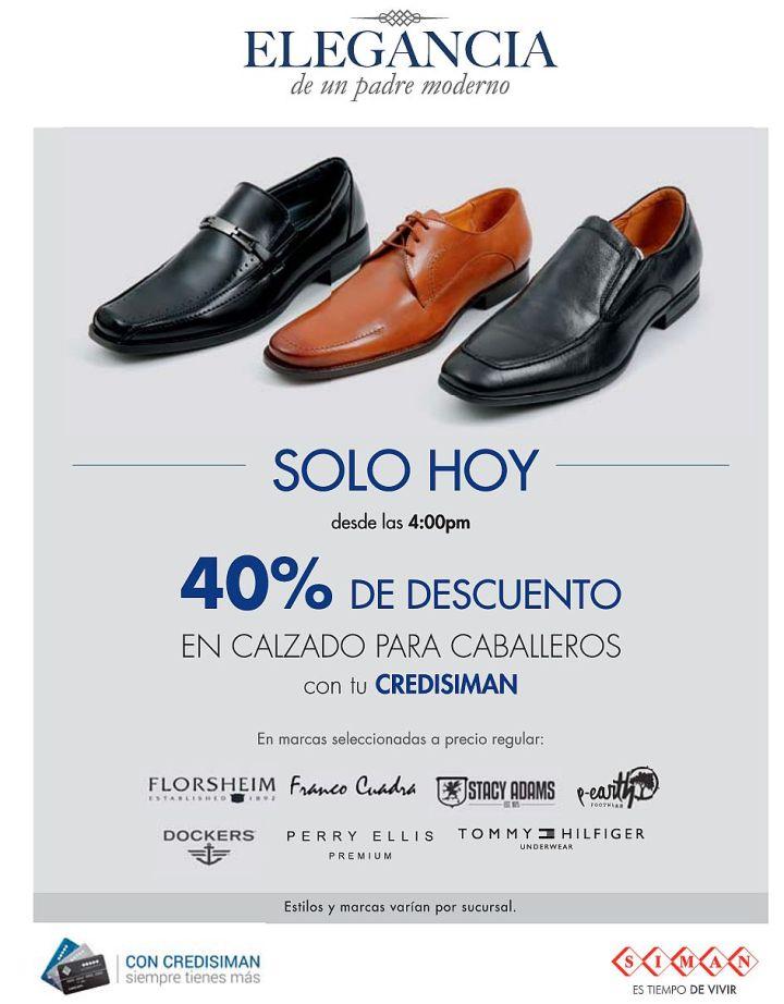 Solo hoy en SIMAN 40 por ciento de descuento en calzado - 15jun15