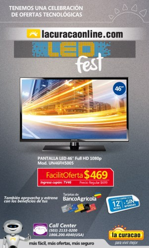 TV LED fest promotions ONLINE CUOPON la curacao - 24jun15