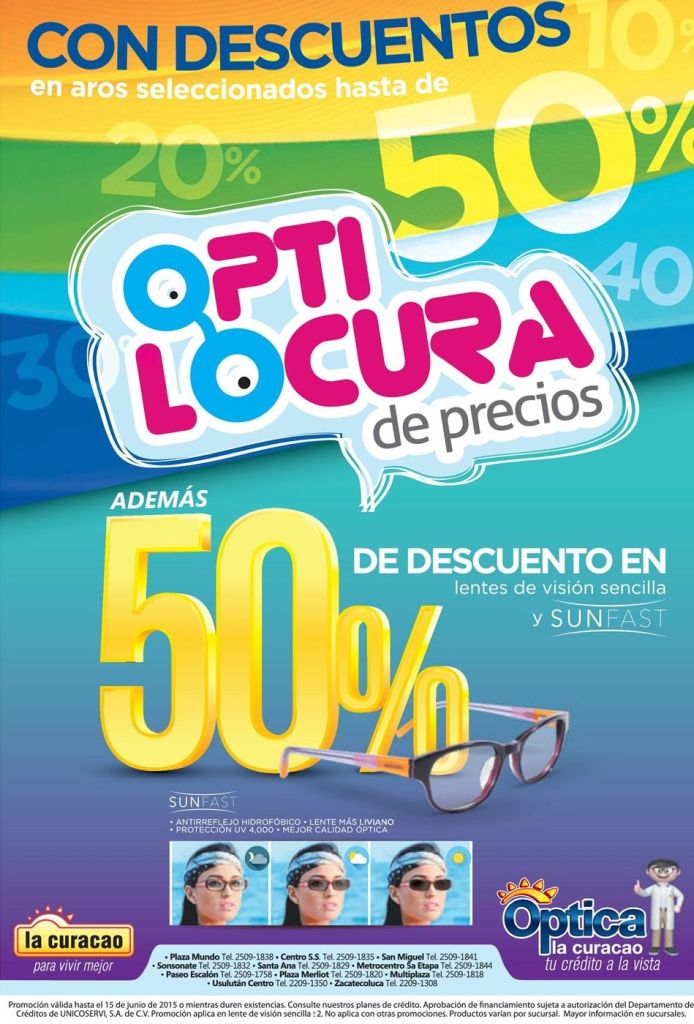 locura de descuentos en productos de optica la curacao - 10jun15