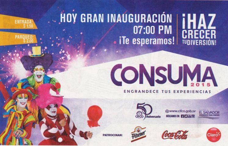 Ahora inauguracion CONSUMA 2015 engrandece tus experiencias