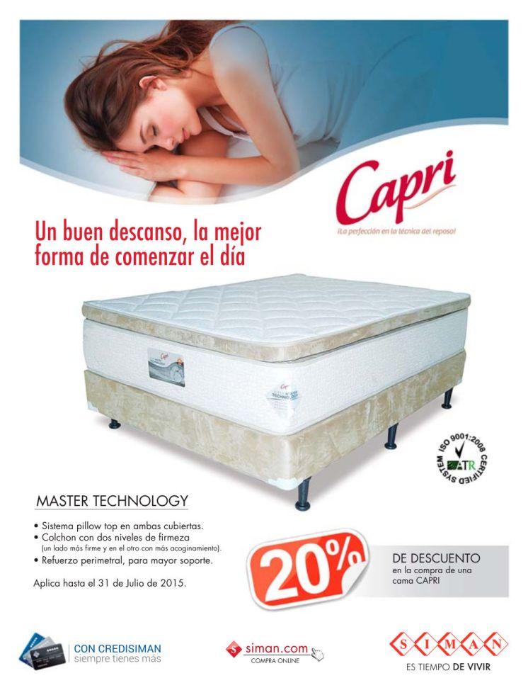 CAPRI master rest technology PILLOW system