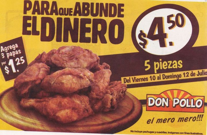 DON POLLO combos desde 4.50 de dolar - 10jul15