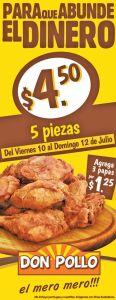 DON POLLO promociones Para que abunde el dinero y la comida - 10jul15