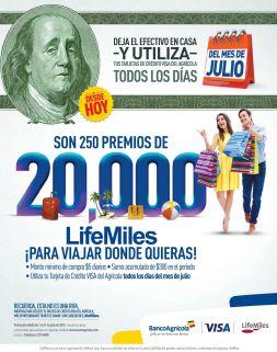 Desde hoy muchos premio gracias LIFE MILES and visa credi card - 01jul15