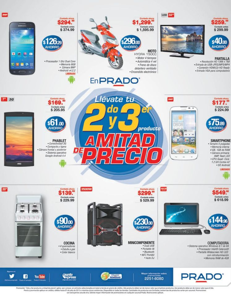 Enjoy PRADO deals computers smartphones audio video a mitad de precio