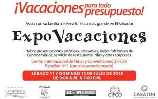 Fin de semana FERIA de VACACIONES expo travel 2015