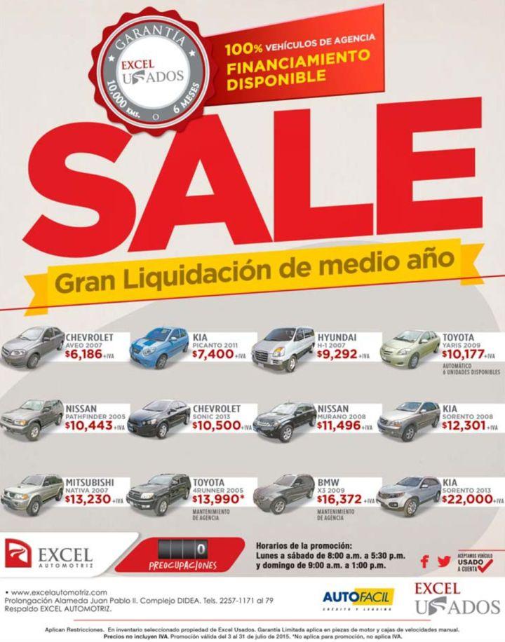 Financiamienot para comprar tu auto usado SALE elsalvador