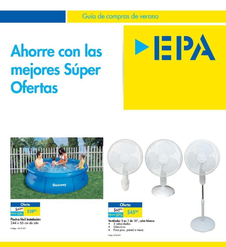 Folleto no15 Guia de compras de verano EPA elsalvador