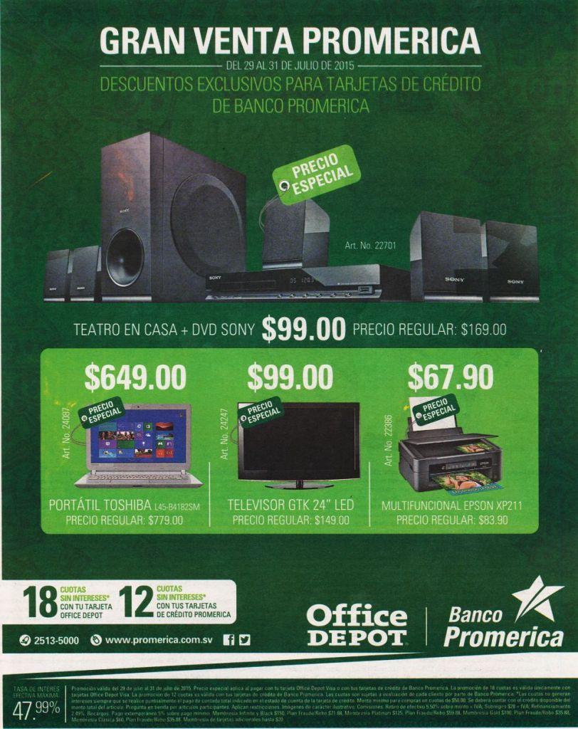 GRAN VENTA Banco promerica Office Depot discounts and tech deals