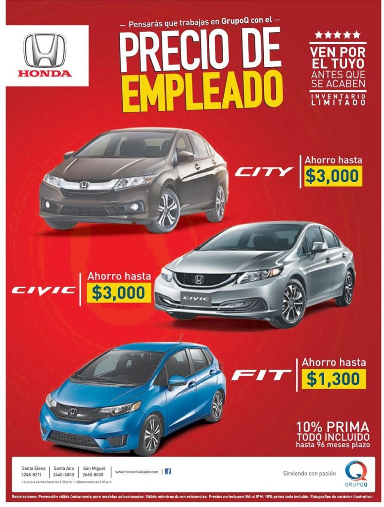 HONDA civic and city deals cars savings