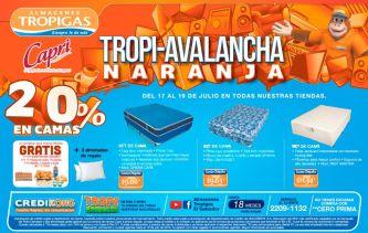 Hasta 20 oFF de descuento TROPI AVALANCHA de almacenes tropigas - 17jul15