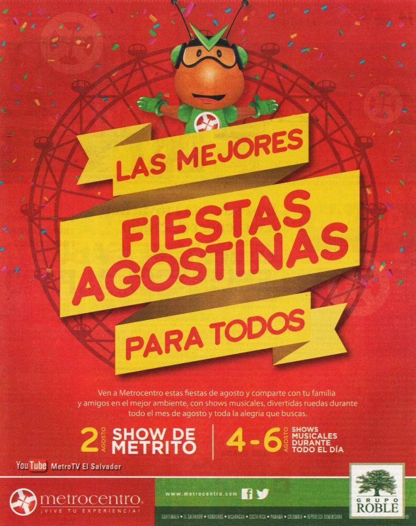 Las mejores fiestas agostinas 2015 en familia SHOW METROCENTRO