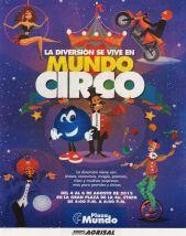 MUNDO CIRCO diversion y entretenimiento en vacaciones plaza mundo