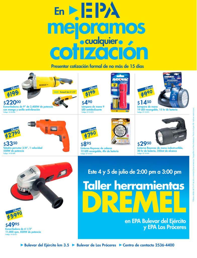 Promociones en taller de herramientas EPA - 03jul15