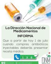 Pronunciamiento venta ANTIBIOTICOS direccion nacial de medicamentos EL SLAVADOR