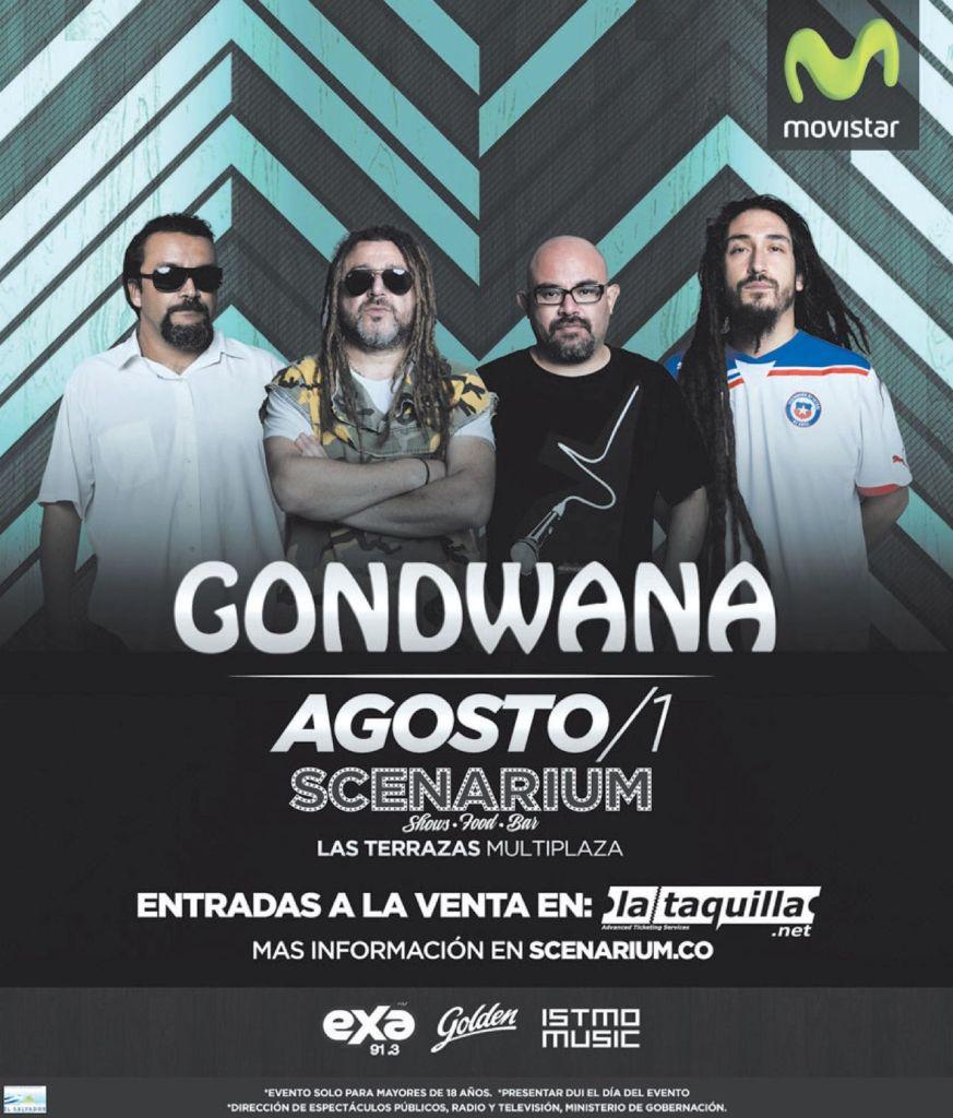 SCENARIUM concierto by GONDWANA en multiplza agosto 2015