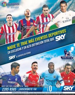 Se acerca LA LIGA de futbol stream tv satellite SKY