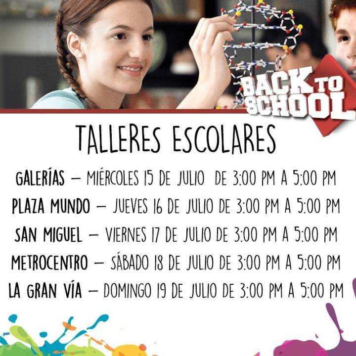 Talles escolares SIMAN back to school 2015