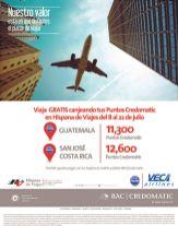 Viaja GRATIS a guatemala o costa rica con tus puntos CREDOMATIC via VECA airlines