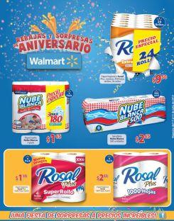WALMART Especial precio en papel higieico y servilletas - 17jul15