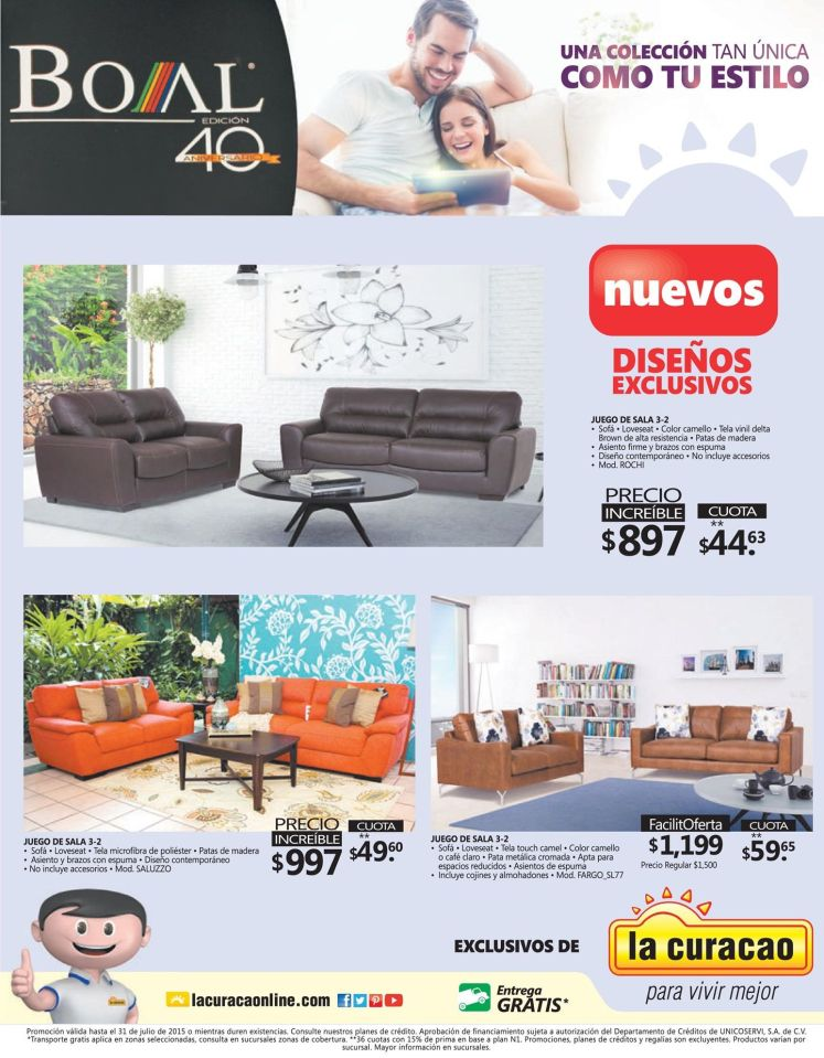 new exclusive designs FURNITURES pomotions LA CURACAO - 18jul15