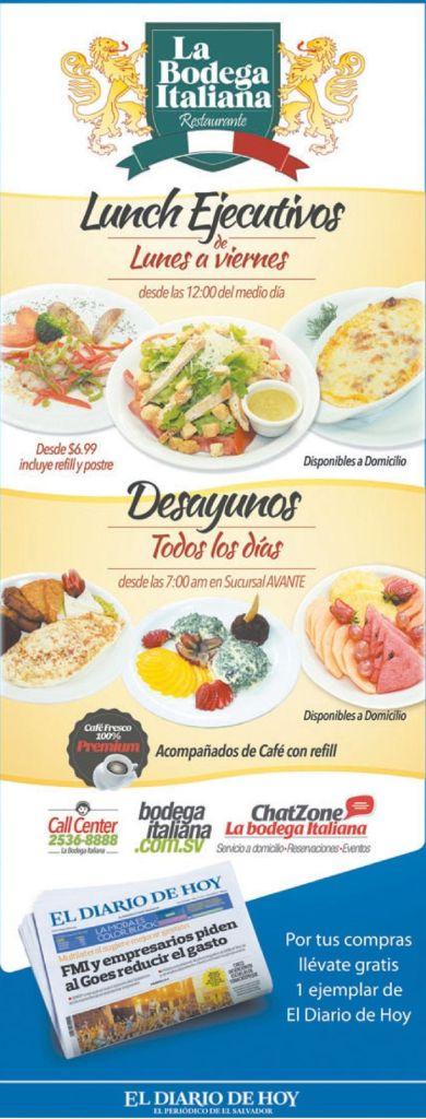 restaurante de comida italiana en san salvador