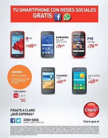 CLARO con mas ofertas en celulares esta semana