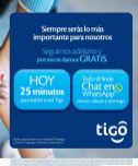HOY minutos y whatsapp GRATIS gracias a TIGO elsalvador