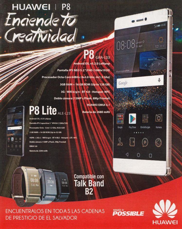 HUAWEI P8 lite compatible con talk band B2 watch