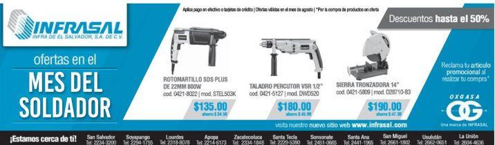 Herramientas electricas con descuento en OXGASA