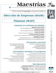 Maestrias financieras y negocios UCA el salvador