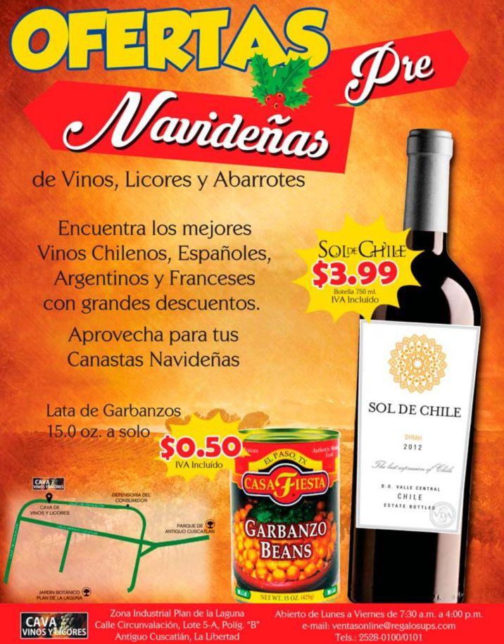 OFERTAS pre navidad 2015 vinos y garbanzo beans