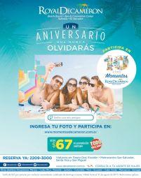 Particpa y GANA en la promocion de aniversario de ROYAL DECAMERON beach resort sv