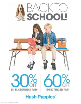 Promotion HUSH PUPPIES by ADOC Back to School SHOES for kids