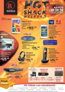 TECNOLOGIA con ofertas HOT Radio SHACK weekend - 28ago15
